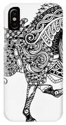 War Horse - Zentangle IPhone Case
