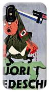War Poster - Ww2 - Out With The Fuhrer IPhone Case