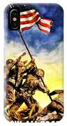 War Poster - Ww2 - Iwo Jima IPhone Case