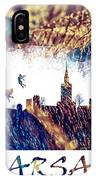 Warsaw Skyline Postcard IPhone Case