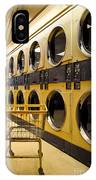 Washing Machines At Laundromat IPhone Case