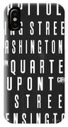 Washington City Subway Sign IPhone Case