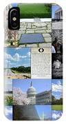 Washington D. C. Collage  IPhone Case