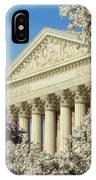 Washington Dc Cherry Blossom Supreme Court IPhone Case