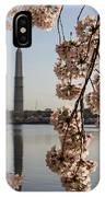 Washington Monument Framed By Blossoms IPhone Case