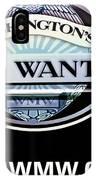 Washington's Most Wanted IPhone Case
