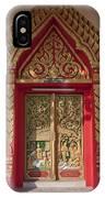 Wat Liab Ubosot Center Door Dthu349 IPhone Case