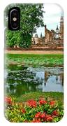 Wat Mahathat Reflection In 13th Century Sukhothai Historical Park-thailand IPhone Case