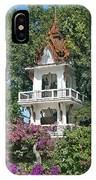 Wat Mahawanaram Bell And Drum Tower Dthu661 IPhone Case