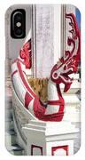 Wat Mahawanaram Ubosot Stair Naga Dthu656 IPhone Case