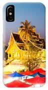 Wat Mai Temple And Night Market - Luang Prabang - Laos IPhone Case