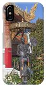 Wat Phuak Hong Phra Wihan Monk Figure Dthcm0579 IPhone Case