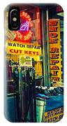 Watch Repair Shop - Keys Made Here IPhone Case