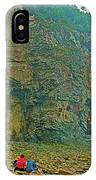 Watching Climbers From Ocean Floor At Cape Enrage-nb IPhone Case
