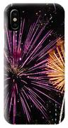 Watching Pink And Gold Explosion - Fireworks And Moon II IPhone Case