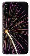 Watching Pink And Gold Explosion - Fireworks And Moon I  IPhone Case
