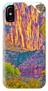 Watchman's Peak In Zion National Park-utah IPhone Case