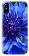 Water Color Bachelor's Button IPhone Case