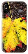 Water Colored Leaf - Autumn IPhone Case