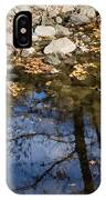 Water Leaves Stones And Branches IPhone Case