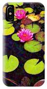 Water Lilies With Pink Flowers - Vertical IPhone Case