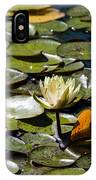 Water Lily And Bees IPhone Case