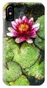 Water Lily Water Color IPhone Case