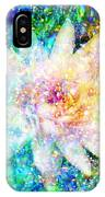 Water Lily With Iridescent Water Drops IPhone Case