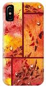 Water On Color Collage Eight IPhone Case