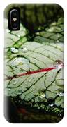Water On The Leaves IPhone Case