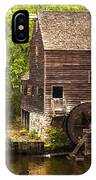 Water Wheel At Philipsburg Manor Mill House IPhone Case