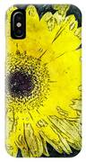 Watercolor Daisy IPhone Case