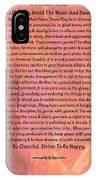 Watercolor Desiderata On Fuchsia Strokes IPhone Case