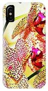 Watercolor Orchid Shadows IPhone Case