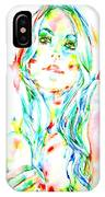 Watercolor Woman.1 IPhone Case