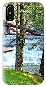 Waterfall And Hammock In Summer 3 IPhone Case