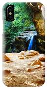 Waterfall At Cliff Side IPhone Case