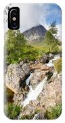 Waterfall Below Stob Dearg IPhone Case