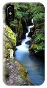 Waterfall, Glacier National Park IPhone Case