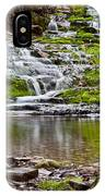 Waterfall In The Forest In Autumn Season  IPhone Case