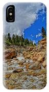 Waterfall In The Rockies IPhone Case