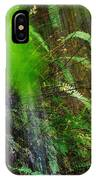 Waterfall Over Ferns IPhone Case