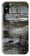 Waterfall Under Railroad Tracks IPhone Case
