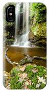 Waterfall With Autumn Leaves IPhone Case
