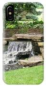 Waterfall With Coneflowers IPhone Case