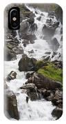 waterfalls in Pre Saint Didier IPhone Case