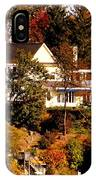 Waterfront Home In Fall IPhone Case