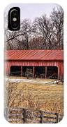 Watkins Mill Barn IPhone Case
