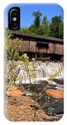 Watson Mill Covered Bridge From The Jetty IPhone Case