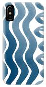 Waves And Pebbles- Abstract Watercolor In Indigo And White IPhone Case
